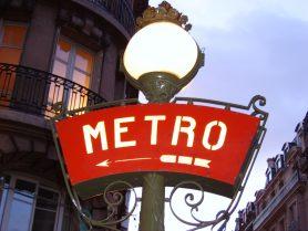 Panneau métro